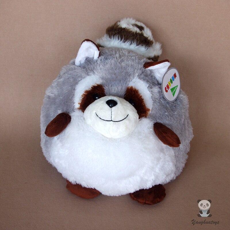 Belle balle raton laveur peluche jouet poupées grand oreiller femmes anniversaire et vacances présent Super doux