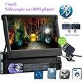 HD 7 дюймов Выдвижной Сенсорный Экран Монитора Автомобиля 1 DIN Стерео авто Радио MP4 GPS Навигации Bluetooth SD FM USB Зарядка carmera