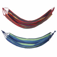2018 New Arrival Outdoor Portable Hammock Garden Sport Home Travel Camping Canvas Stripe Hang Swing Single