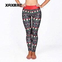 102 High Waist Workout Silm Fitness Women Leggings Pants Trousers Sexy Girl Fashion Christmas National emoji Santa Claus Prints