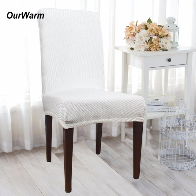 Dining Chair Covers In Store Desk Stylish Aliexpress Com Buy Ourwarm 50pcs Lot For Weddings Universal Polyester Stretch Cover Banquet