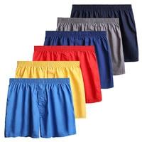 3 Piece/Lot 100% Cotton Underwear Men Comfortable Breathable Solid Color Men's Boxer Pantie New Casual Loose Man Boxers MA50194