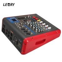 LEORY Professional High Quality DJ Digital Mixing Console With Bluetooth USB Mini Sound Mixer For DJ Audio Karaoke Meeting KTV