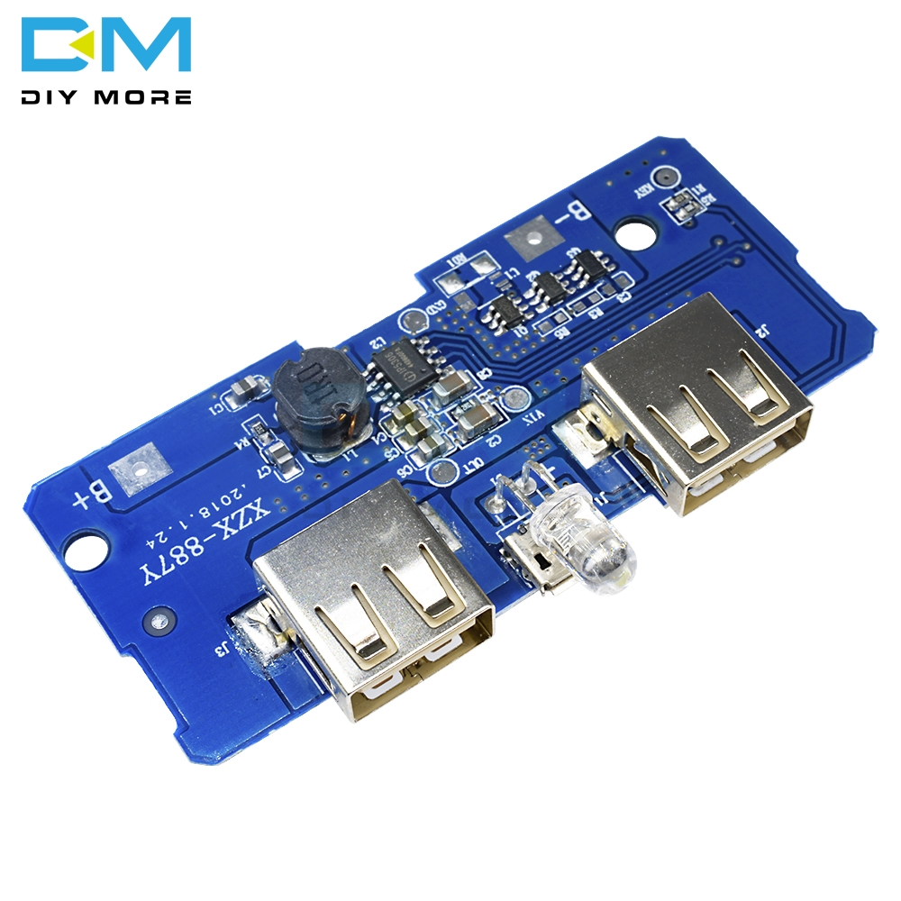 5V 2A Power Bank Charger Module Charging Circuit Board Step Up Boost Power Supply Module 2A Dual USB Output 1A Input Micro