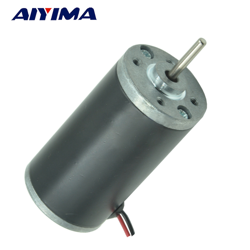 Aiyima Permanent Magnet DC Motor Miniature High Power Motor Speed Control Positive and Negative High Speed Motor 6V 12V 24V dc steel tube motor xc38ms64 dc12v24v permanent magnet high speed motor speed adjustable miniature high power motor cw ccw