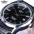 fashion men male clock original WINNER Leather Relogio masculinos top Brand watches men luxury brand Automatic mens wristwatch