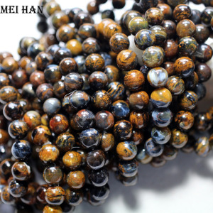 Image 2 - Wholesale (approx 21beads/set/19g) 8.5 9mm A++ natural Namibia Pietersite smooth round  beads stone for women men bracelet