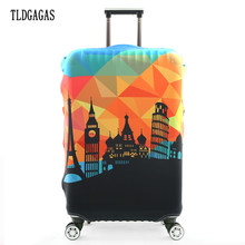 TLDGAGAS Ultra-thin Travel Luggage Suitcase Protective Cover for Trunk Case Apply to 19''-32'' Suitcase Cover Elastic Perfectly(China)