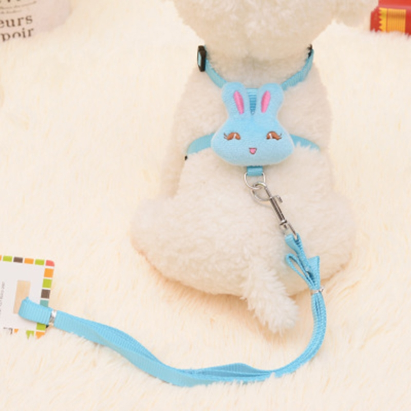 Lovely Pet Dog Leash Set Adjustable Animal Design Nylon Harness For Small Dogs
