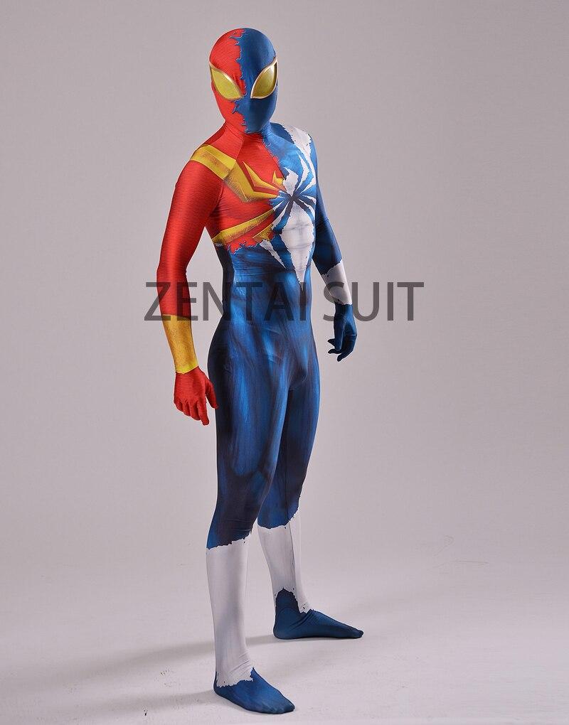 Half Symbiote Iron Spider Disfraz Diseñado en 3D Fullbody Spiderman - Disfraces - foto 2