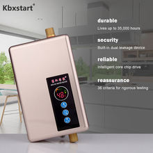 Kbxstart 5500W Electric Water Heater Kitchen Bathroom Hot Shower Water Heater Instant Intelligent Speed Hot Calentador De Agua цена 2017