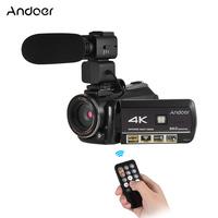 Andoer high quality digital camera 4K Prtable Digital Video   Camcorder   24MP Lightweight DV Recorder Professional Camera