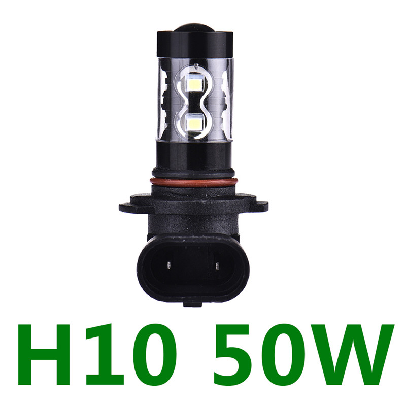 2Pcs Car LED light High Power Fog Lamp H10 50W 10Smd LED Fog Lights Driving Light auto Car Headlight Lamp Bulbs Car-Styling wljh 11x canbus 2835 smd led dome map interior light kit for chevrolet cruze equinox sonic malibu spark suburban traverse 2015