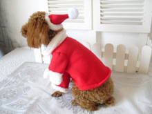Christmas Pet Cat Dog Clothes Santa Claus Costume