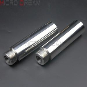 Image 4 - 1 ペアクロームオートバイフォークチューブは 5 インチ延長 harley dyna fxd スポーツスター XL1200 XL883 39 ミリメートルフォークチューブ