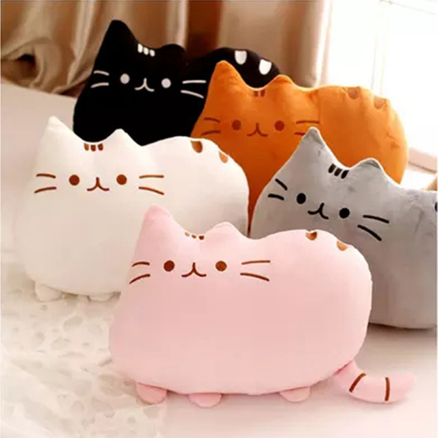5Colors Cute Fat Cat Baby Plush Toy 20/40 cm Pillow Dolls For Children High Quality Soft Cushion Cotton Brinquedos For Kids Gift