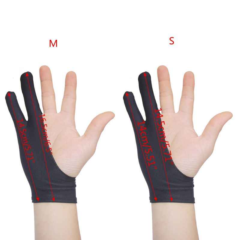 2 Fingers Drawing Glove Anti-fouling Artist Favor Any Graphics Painting Writing Digital ablet For Right And Left Hand