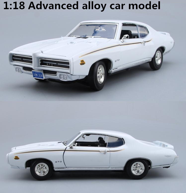 High simulation 1969 Pontiac GTO,1:18 advanced alloy collection car toys,metal diecast toy vehicles,4 open doors,free shipping high simulation 1 18 advanced alloy car model volkswagen golf gti 1983 metal castings collection toy vehicles free shipping