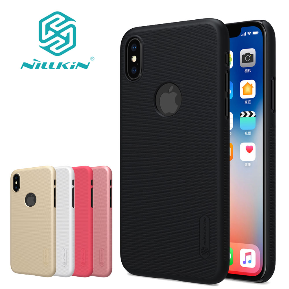 Nilkin Capa for iPhone X 8 7 6S 6 5S SE Case Nillkin Frosted Matte Hard Phone Back Cover Shell for Apple iPhone X 8 7 6S 6 Plus