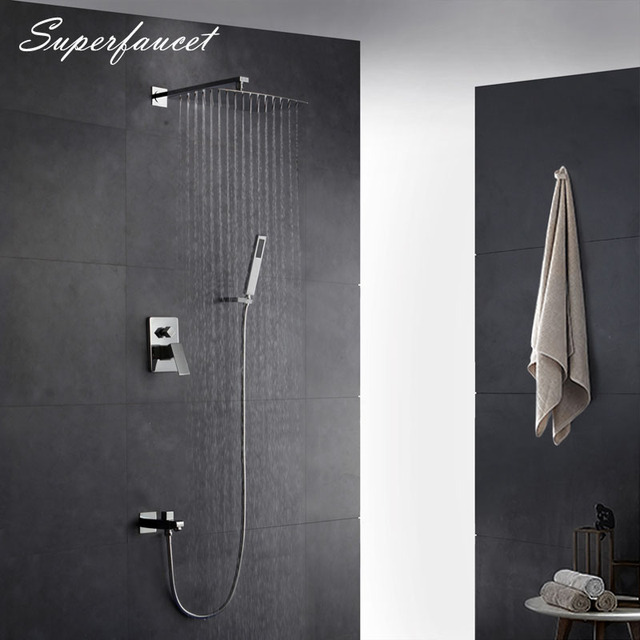 Superfaucet Shower Faucets 8/10/12/16 Inch Shower Head With Handshower,
