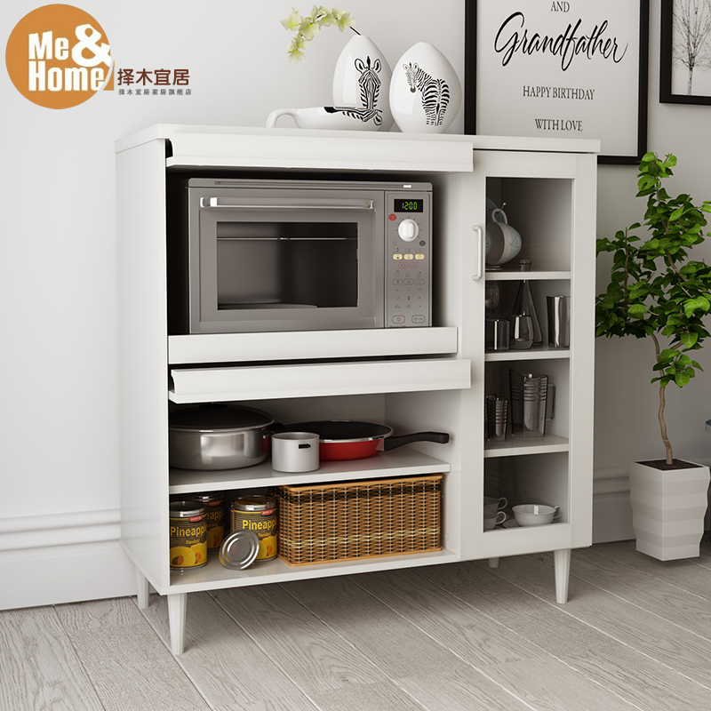 Pi verde vivibile moderno e minimalista credenza ristorante mobili da cucina scaffale forno a - Scaffale per cucina ...