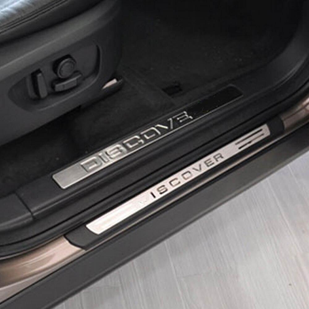 Дверь Добро пожаловать педали порог подоконник доска Защитная крышка Стикеры для земля Rang Rover Discovery Sport Внешние аксессуары