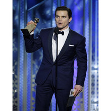 2017 Golden Globe Matt Bomer Custom Made Slim Fit Groom Tuxedos Best Man Suit Wedding GroomsmanMen