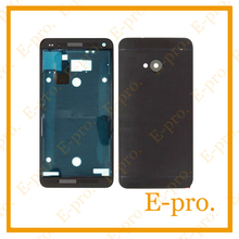 New Full Housing For HTC One M7 801e Complete Housing Front Faceplate Cover+Back Battery Door Case +Tools Black Sliver