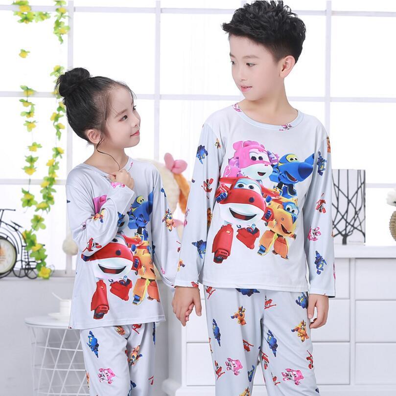 2018 Herfst & Lente Baby Sleepwears Suits Mooie Gilr Jongens Pyjama Kinderen Pyjama Meisjes Cartoon Pijamas Kinderkleding Set Mn19