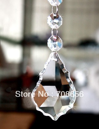 30pcs 38MM HIGH QUALITY CHANDELIER CRYSTAL DROP PENDANT MAPLE LEAF FREE SHIPPING