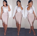 Nueva Moda 11 Colores Sexy Falda de la Nueva Llegada 2016 de Las Mujeres Del Vendaje de La Rodilla Elástico Bodycon Lápiz Faldas 60 cm
