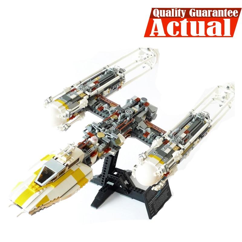 Clone 10134 MOC LEPIN 05040 1473Pcs Star Wars Y-wing Attack Starfighter Model Building Kits Blocks Bricks Toys for children Gift цена