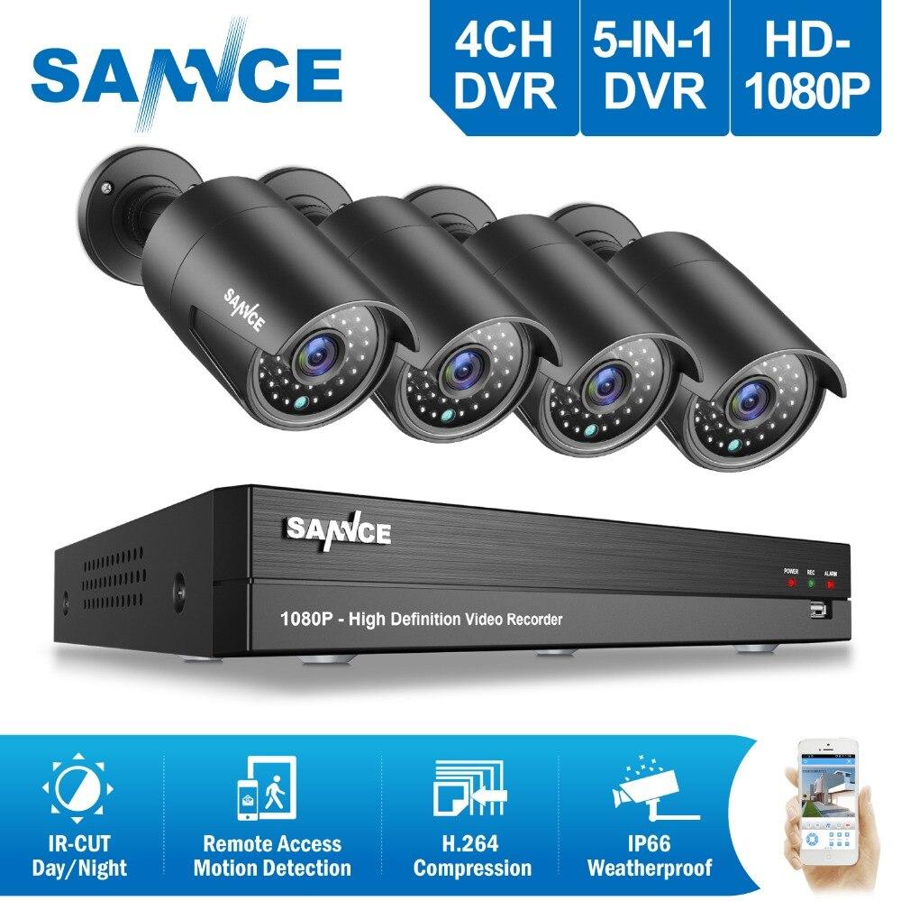 SANNCE caméra de sécurité Système 8CH système cctv 4 1080 P caméra cctv 2.0MP Caméra Vidéo kit de surveillance 1080 P kit de caméra cctv