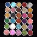 30 pcs Cores Misturadas Em Pó Pigmento Glitter Mineral Lantejoula Eyeshadow Maquiagem Cosméticos Set Long-lasting 2016 Cor Aleatória
