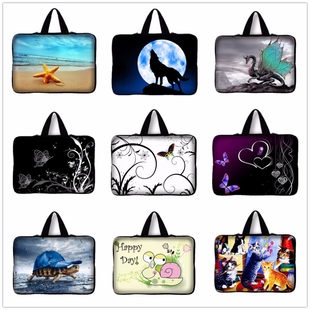 14 14.4 inch Butterfly,Cat laptop bag tablet sleeve case with handle PC handbag 14 14.4 computer notebook cover pouch #4