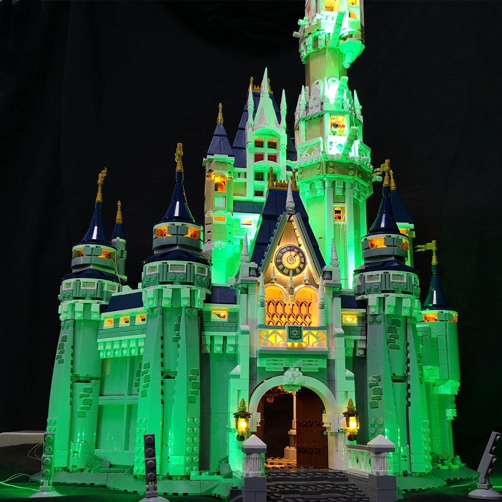 LED Light Kit (only light included) for lego 71040 Compatible with 16008 Cinderella Princess Castle City Model