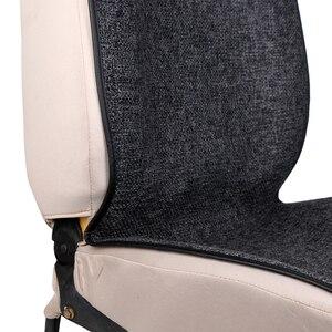 Image 5 - 1 חתיכה רכב כרית מושב מחצלת יכול מכונה לשטוף/מלאכותי פשתן אחת מכסה Fit ביותר רכב משאית suv או ואן