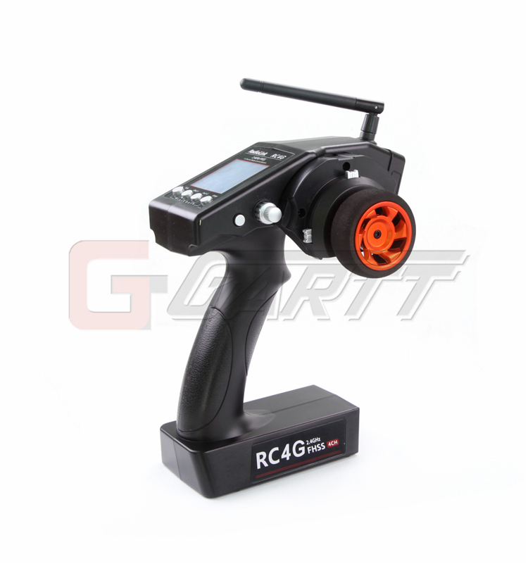 Freeshipping RadioLink RC4G 2.4G 4CH Gun Controller Transmitter + R4EH-G Gyro Inside Receiver for RC Car Boat
