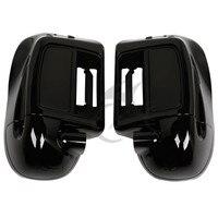 Глянцевый черный 6,5 динамик коробка нижний обтекатель с вентиляционными отверстиями ноги для Harley Touring Road скользящий Electra Glide 2014 18 аксессуары