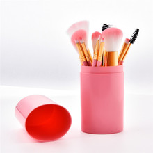 Get more info on the 12PCS frofessional Makeup Brush Set pink Plastic handle Cosmetic Makeup Brush Foundation Powder Eyeshadow Brush With Bag
