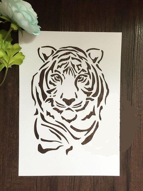 Tiger Scrapbooking Tool Card DIY Album Masking Spray Painted