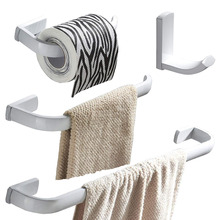 Leyden 4pcs Bathroom Accessories Set White Brass Wall Mounted Single Towel Bar Towel Ring Toilet Paper Holder Clothes Towel Hook цена 2017