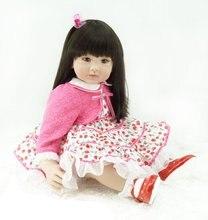 22 inch 55 cm Silicone baby reborn dolls, lifelike doll reborn babies toys Pretty little girl