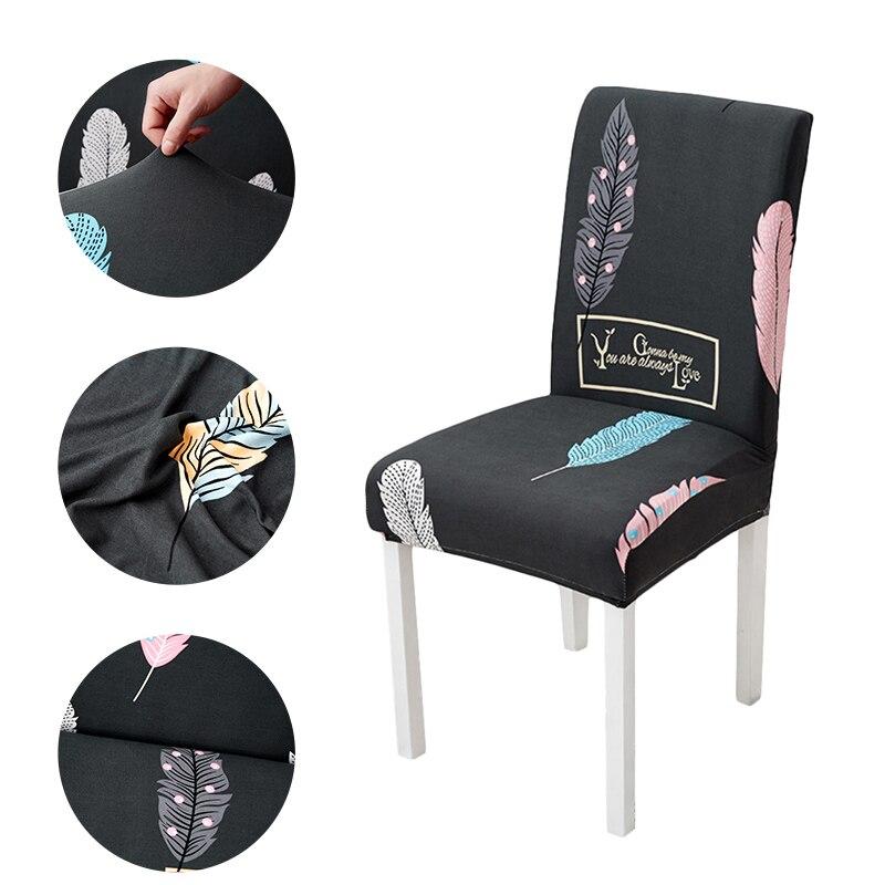 Slipcovers cadeira de mesa de cozinha capas de cadeira de elastano capas de cadeira de sala de jantar tampas de móveis universais 1/2/4/6 pcs