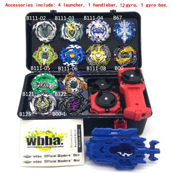1 set 20 style Beyblade Burst Toys set Arena Beyblade B122 B125 Metal Fusion with  4 launcher God Spinning Top Beyblade Toy set beyblade set
