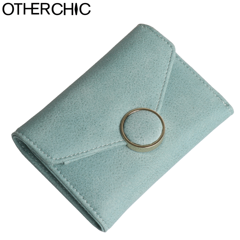 OTHERCHIC Nubuck Leather Women Short Wallets Ladies Fashion Small Wallet Coin Purse Female Card Wallet Purses Money Bag 7N06-07 otherchic women short wallets small simple wallet zipper coin pocket purse woman female roomy wallet purses money bag 7n01 14