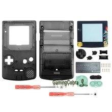 Botões com Len Tela Sólida preto Shell Habitação Completa para Nintendo Game Boy Color-GBC001