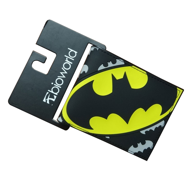 Kids Cartoon Purse Black Batman Wallets PVC Anime Hero Bat-men Folded Dollar Bags carteira masculina Gift Young Avengers Wallet baellerry small mens wallets vintage dull polish short dollar price male cards purse mini leather men wallet carteira masculina