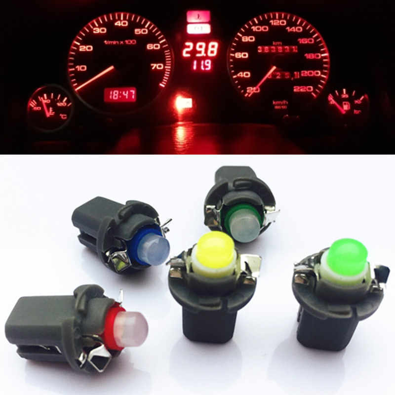 10PCS B8.5D 509T B8.5 COB Led SMD T5 Lamp Car Gauge Speedo Dash Bulb Dashboard instrument Light blue red green white yellow