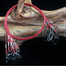 Leader Fishing-Lines Steel-Wire Lb Anti-Bait 150 with Snap 10pcs